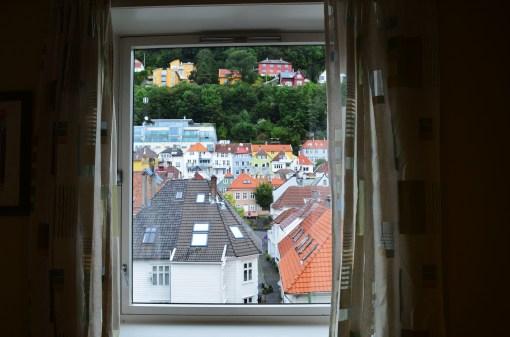 Вид из окна хостела