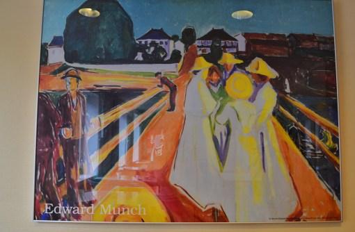 """Вот такая картина Эдварда Мунка висела в хостеле. Хорошо, что не """"Крик"""""""