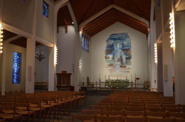 Внутри  кафедрального собора Скальхольт