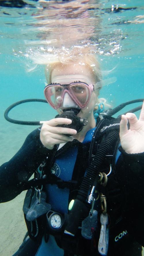 Первый пробный спуск под воду