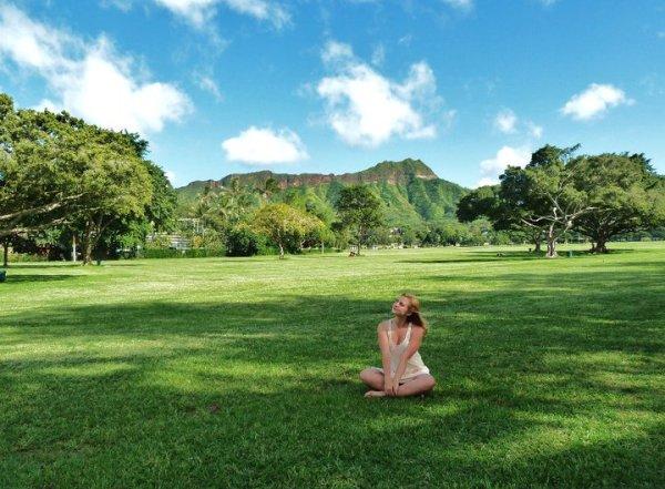 Гавайи.  Я бросила работу и уехала на Оаху. Ночь на пляже, цунами, гостеприимство местных жителей...